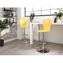 Long Island Bar Stools Pair in Yellow