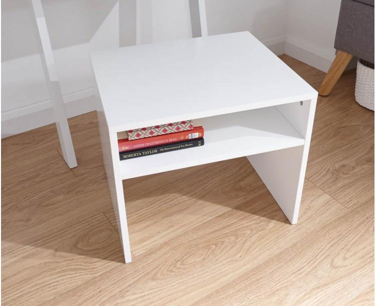 Ladder Desk Stool White
