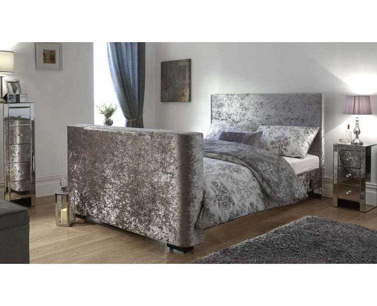 Newark 150cm Electric TV Bed Crushed Velvet