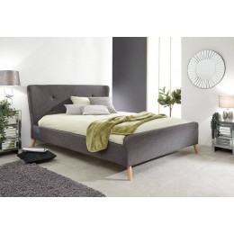 Carnaby Wing Double 4FT6 Bed in Grey