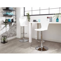 Long Island Bar Stools Pair in White