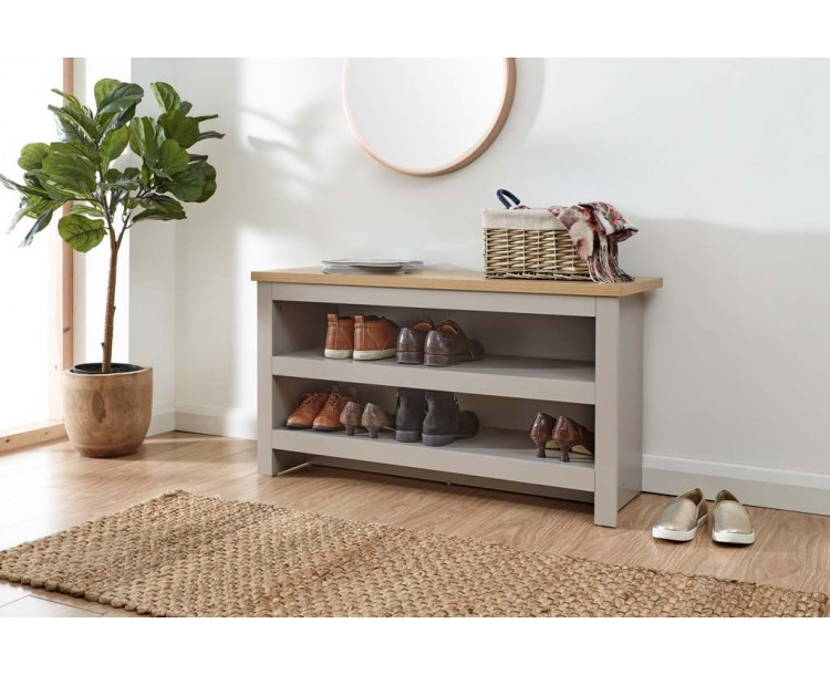 Lancaster Simple Shoe Bench Grey