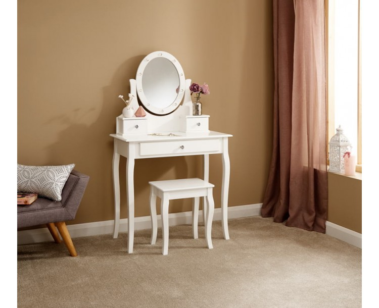 Grace Led Dressing Table White