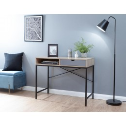 Telford Computer Desk Light Oak & Grey