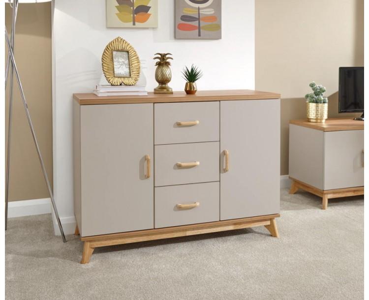 Nordica Large Sideboard Oak/Light Grey
