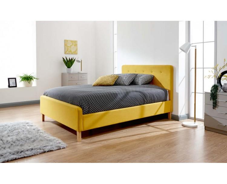 Ashbourne 135cm Bedstead Mustard