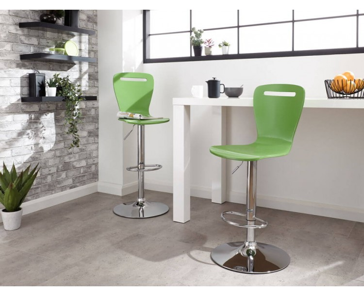 Long Island Bar Stools Pair in Green