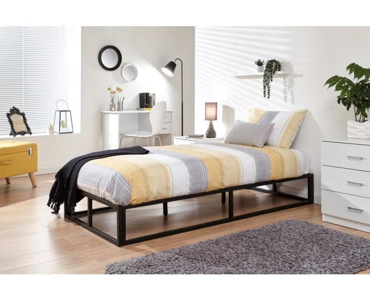 Platform Bed 90cm Black