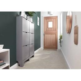 Narrow 6 Drawer Shoe Cabinet in Grey