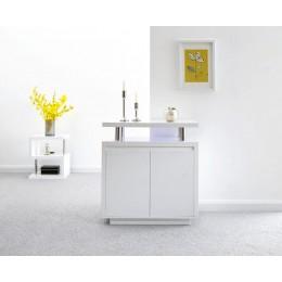 Polar High Gloss Led Sideboard White