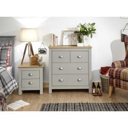 Lancaster 2+2 Drawer Chest Grey