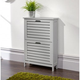 Bergen Two Tier Shoe Cabinet Grey