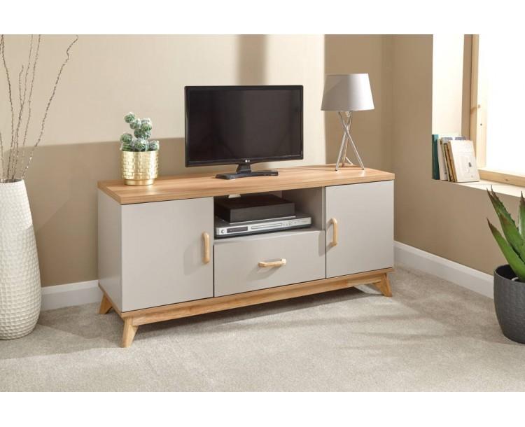 Nordica Large TV Unit Oak/Light Grey