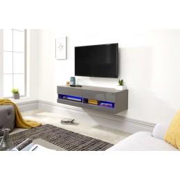 Galicia 120cm Wall TV Unit With Led Grey