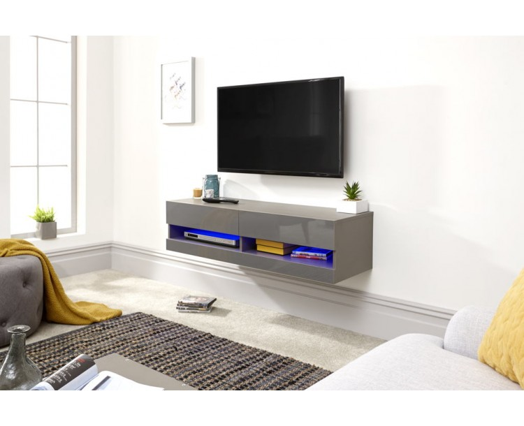 Galicia 120cm Wall TV Unit With Led Grey