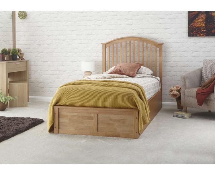 Madrid Wooden Ottoman Bed 90cm Oak