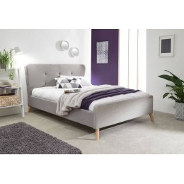 Carnaby Wing Bed in Light Grey King Size 5FT