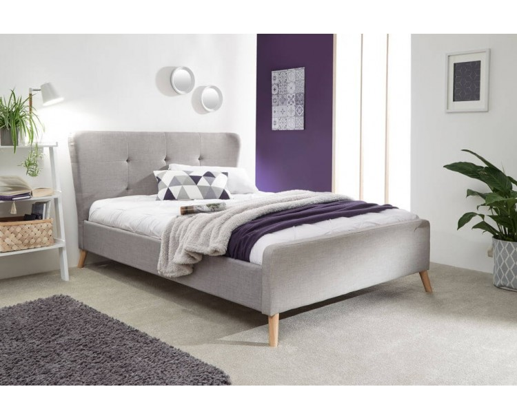 Carnaby Wing Bed in Light Grey Double Size 4FT6