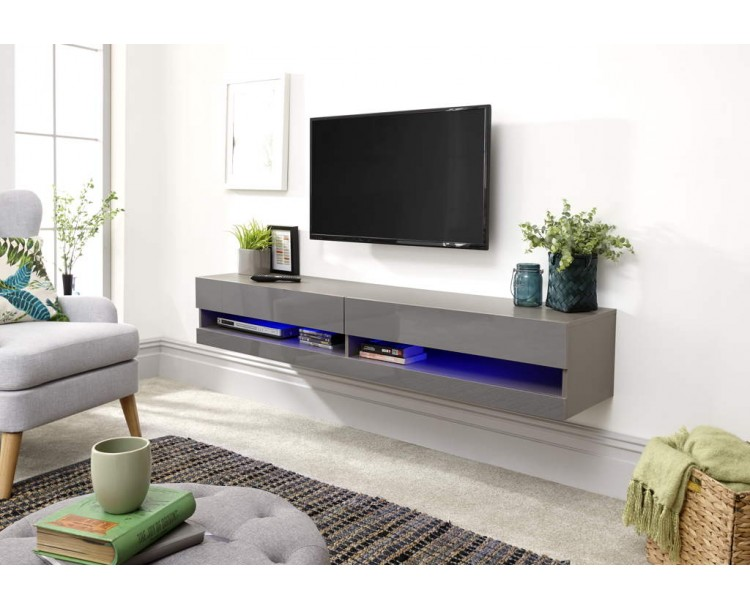 Galicia 150cm Wall TV Unit With Led Grey