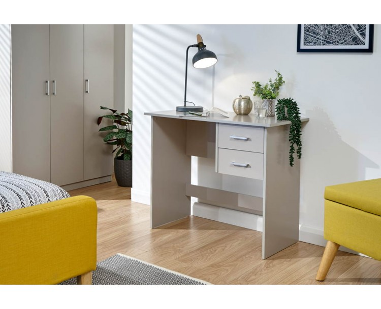 Panama 2 Drawer Desk Grey