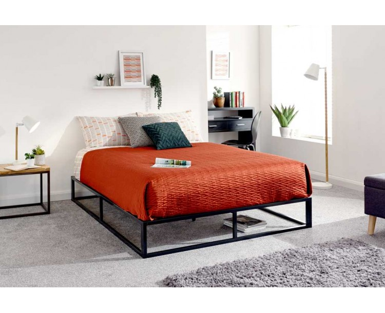 Platform Bed 120cm Black