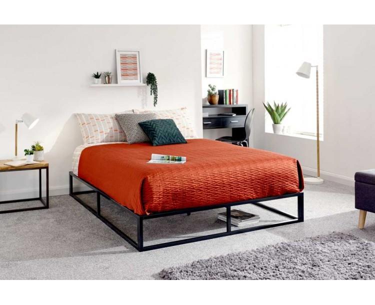 Platform Bed 150cm Black