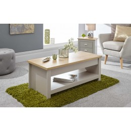 Lancaster Lift Up Coffee Table Grey