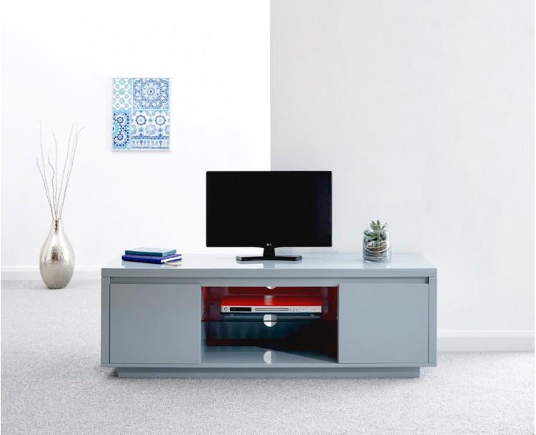 Polar High Gloss Led Large TV Unit Grey
