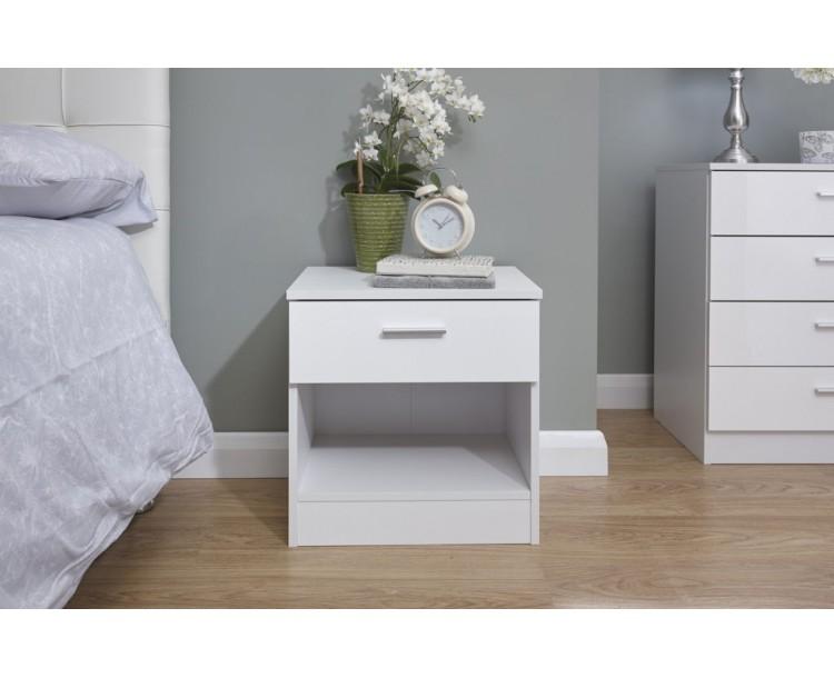Melbourne Bedside White + White