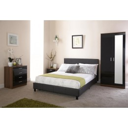 135cm Bed In A Box Black