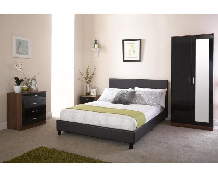 120cm Bed In A Box Black