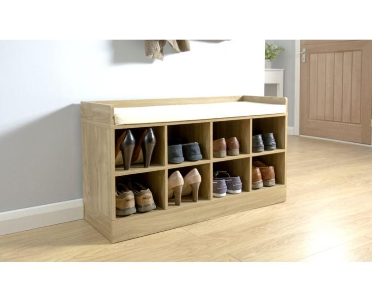 Kempton Shoe Bench Oak