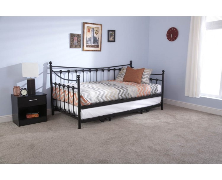 Memphis Day Bed With Trundle Bed Black