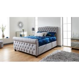 Lucerne 150cm Side Lift Ottoman Bed Grey