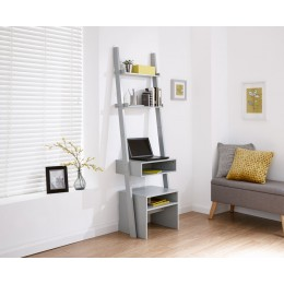 Ladder Desk + Stool Set Grey