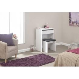 Compact Dresser + Stool White