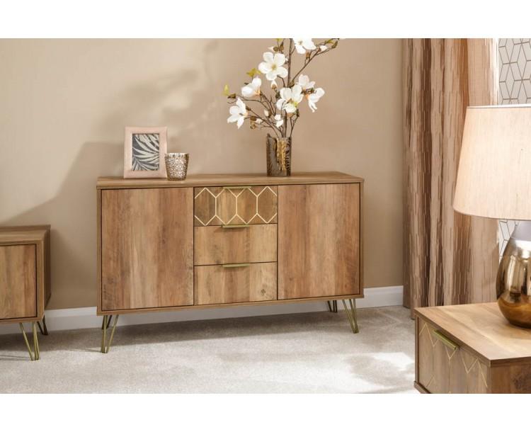 Orleans 2 Door 3 Drawer Cabinet Mango
