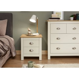 Lancaster 2 Drawer Bedside Cream