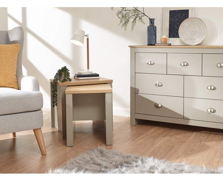 Lancaster Nesting Tables Grey