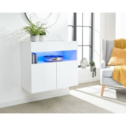 Galicia Sideboard in White with Led Lights