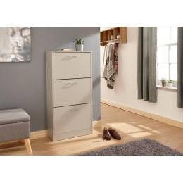 Stirling Three Tier Shoe Cabinet Grey