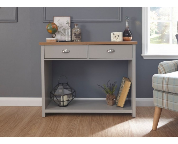 Contemporary Grey Lancaster Console Hall Table
