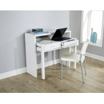Regis Retractable Console Desk in White