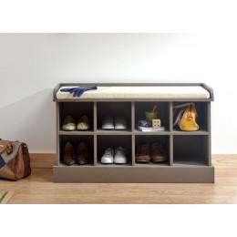 Classic Grey Tone Kempton Hallway Shoe Bench Storage