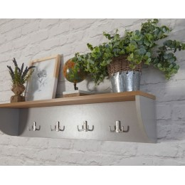 Lancaster Grey Wall Rack with Shelf