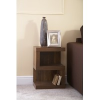 Hampton S-Shaped Lamp Table Chunky Acacia Wood