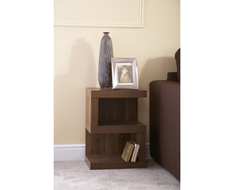 Hampton S-Shape Acacia Wood Living Room Lamp End Table