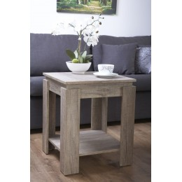 Canyon Oak Lamp Table Living Room Rustic 3D Oak Effect