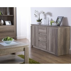 Canyon Oak Living Room Rustic 3D Oak Effect Sideboard