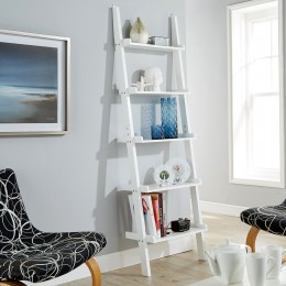 Cyprus White Ladder Shelving Display Unit